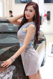 北京车展车模现场照片