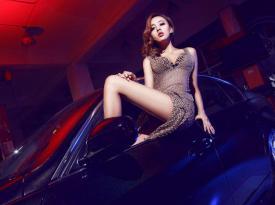 韩国美女车模