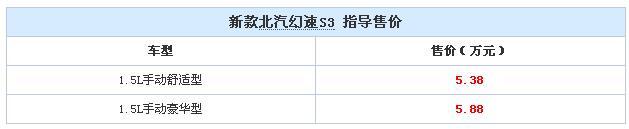 新款幻速S3
